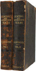 Books, B. B. Paddock. A History of Central and Western Texas.Chicago: The Lewis Publishing Company, 1911. First edition. T...(Total: 2 Items)