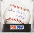 "Autographs:Baseballs, Steve Carlton ""HOF 94"" Single Signed Baseball, PSA Mint+ 9.5...."