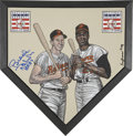 Autographs:Others, Brooks Robinson Signed Home Plate Painting....