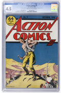 Golden Age (1938-1955):Superhero, Action Comics #5 (DC, 1938) CGC VG+ 4.5 Cream to off-white pages....
