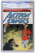 Golden Age (1938-1955):Superhero, Action Comics #4 (DC, 1938) CGC GD/VG 3.0 Off-white to white pages....