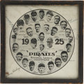 Autographs:Bats, 1925 Pittsburgh Pirates World Champion Team Signed Photograph. ...