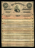 Confederate Notes:1864 Issues, Twenty-Six T66 $50s 1864.. ... (Total: 26 notes)
