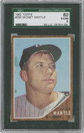 Baseball Cards:Singles (1960-1969), 1962 Topps Mickey Mantle #200 SGC 80 EX/NM 6....
