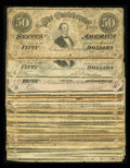 Confederate Notes:1864 Issues, Thirty Eight T66 $50s 1864.. ... (Total: 38 notes)