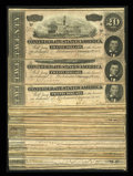 Confederate Notes:1864 Issues, Forty Eight T67 $20s 1864.. ... (Total: 48 notes)