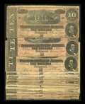 Confederate Notes:1864 Issues, Twenty Eight T68 $10s 1864.. ... (Total: 28 notes)