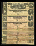 Confederate Notes:1864 Issues, Fifty Circulated T68 $10s 1864.. ... (Total: 50 notes)