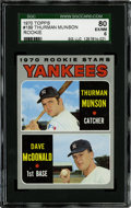 Baseball Cards:Singles (1970-Now), 1970 Topps Yankees Rookies (Munson) #189 SGC 80 EX/NM 6....
