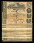 Confederate Notes:1864 Issues, Seventy Eight T69 $5s 1864.. ... (Total: 78 notes)