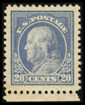 Stamps, #515, 1917, 20c Light Ultramarine SUP 98J PSE. (Original Gum - Never Hinged)....