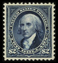 Stamps, #277a, 1895, $2 Dark Blue, SUP 98 PSE. (Original Gum - Previously Hinged)....