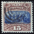 Stamps, #118, 1869, 15c Brown And Blue XF-S 95 PSE. (Used)....