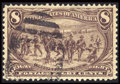 Stamps, #289, 1898, 8c Violet Brown, XF-S 95 PSE. (Used)....