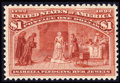 Stamps, #241, 1893, $1 Salmon, VF 80 PSE. (Original Gum - Never Hinged)....