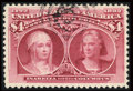 Stamps, #244, 1893, $4 Crimson Lake, XF 90 PSE. (Used)....