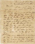 """Autographs:Military Figures, [Texas Republic] Thomas Jefferson Green Autograph Letter Signed """"Thomas J. Green"""" as brigadier general of the Texas Army..."""