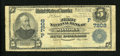 National Bank Notes:California, Sonora, CA - $5 1902 Blue Seal Fr. 598 The First NB Ch. # (P)7202. ...