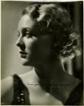 Movie/TV Memorabilia:Autographs and Signed Items, Gloria Stuart Signed Photo Portrait by Roman Freulich....