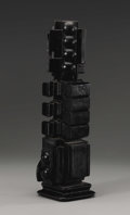 American:Modern, LOUISE NEVELSON, (American 1899-1988). Night Column II .Bronze with black patina. 15 inches high (38.1 cm). Inscribed o...