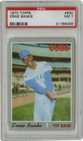Baseball Cards:Singles (1970-Now), 1970 Topps Ernie Banks #630 PSA NM 7. The Cubs' first black andmost popular player is seen here near the end of his glorio...