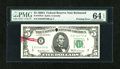 Error Notes:Printed Tears, Fr. 1970-E $5 1969A Federal Reserve Note. PMG Choice Uncirculated64 EPQ.. ...