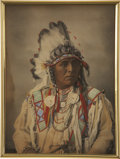 Photographs, A PORTRAIT OF CROW CHIEF SPOTTED JACK RABBIT. F. A. RINEHART. c. 1898...