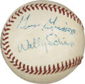 Autographs:Baseballs, 1960's Mercury Seven Astronauts Signed Baseball with Grissom....