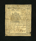 Colonial Notes:Delaware, Delaware May 1, 1777 10s Very Fine, Damaged....