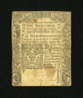 Colonial Notes:Connecticut, Connecticut June 1, 1775 6s Very Fine, Damaged....