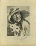 Movie/TV Memorabilia:Autographs and Signed Items, Mabel Normand Signed Photo....
