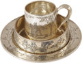 Movie/TV Memorabilia:Memorabilia, Mary Pickford and Douglas Fairbanks Engraved Silver Tea Set....(Total: 3 Items)