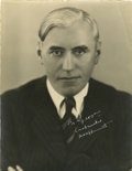Movie/TV Memorabilia:Photos, Mack Sennett Signed Photo....