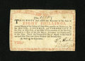 Colonial Notes:New York, New York August 25, 1774 (Water Works) 8s Very Fine-ExtremelyFine....
