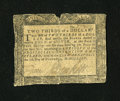 Colonial Notes:Maryland, Maryland December 7, 1775 $2/3 Fine....