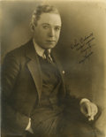 Movie/TV Memorabilia:Autographs and Signed Items, Harry Langdon Signed Photo....