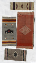 American Indian Art:Weavings, TWO CHIMAYO WEAVINGS AND TWO MEXICAN WEAVINGS. c. 1880 - 1940. ...(Total: 4 Items)