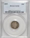 Barber Dimes: , 1895 10C VF25 PCGS. PCGS Population (2/122). NGC Census: (1/93).Mintage: 690,000. Numismedia Wsl. Price for NGC/PCGS coin ...
