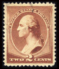 Stamps, #210, 1883, 2c Red Brown, SUP 98 PSE. (Used)....