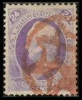 Stamps, #153, 1870, 24c Purple, XF-S 95 PSE. (Used).... (Total: 1 Slab)