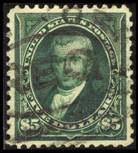 #278, 1895, $5 Dark Green, XF 90 PSE. (Used)
