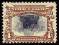 Stamps, #296a, 1901, 4c, Deep red Brown and Black. (Original Gum - Previously Hinged)....