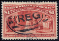 Stamps, #241, 1893, $1 Salmon, XF 90 PSE. (Used)....