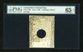 Colonial Notes:Connecticut, Connecticut July 1, 1780 2s/6d Hole Cancel PMG Gem Uncirculated 65 EPQ....