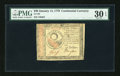 Colonial Notes:Continental Congress Issues, Continental Currency January 14, 1779 $30 PMG Very Fine 30 EPQ....