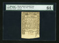 Colonial Notes:Rhode Island, Rhode Island May 1786 3s PMG Choice Uncirculated 64 EPQ....