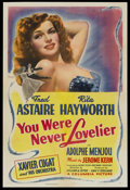 "Movie Posters:Musical, You Were Never Lovelier (Columbia, 1942). One Sheet (27"" X 41"") Style B. Musical...."