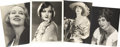 Movie/TV Memorabilia:Autographs and Signed Items, Assorted Silent Era Starlet-Signed Photos.... (Total: 4 Items)