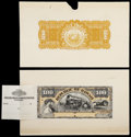 Large Size:Demand Notes, $100 Republic of Hawaii Gold Certificate 1895 (1899) Pick 10p Faceand Back Proofs Choice New.... (Total: 2 notes)