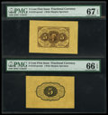 Fractional Currency:First Issue, Fr. 1231SP 5c First Issue Specimen Pair....